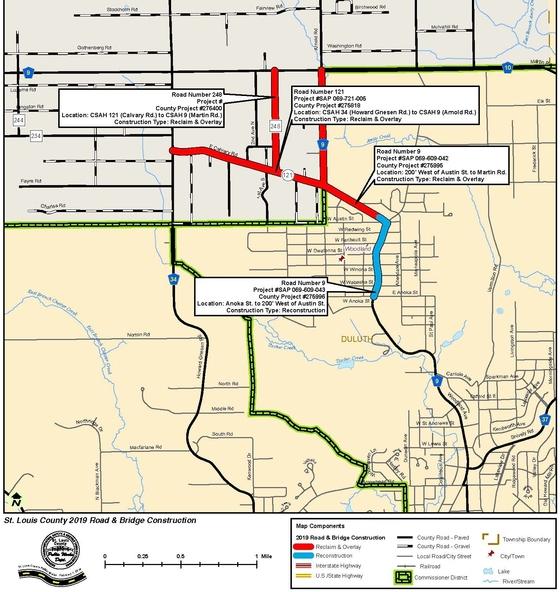 Woodland-Calvary map