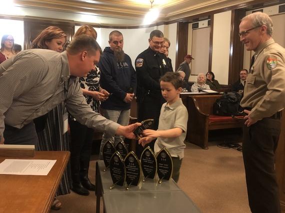 Caleb rescue - 911 Lifesaver awards