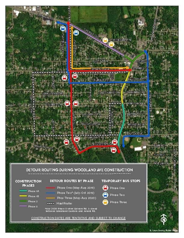 Woodland Detour Map