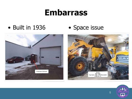 Embarrass garage
