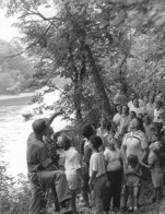 state park history black and white picture of kids on a hike