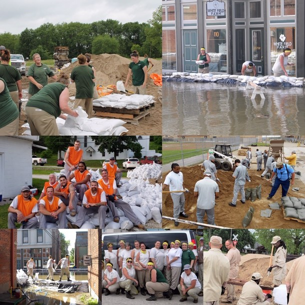 Sandbagging Collage