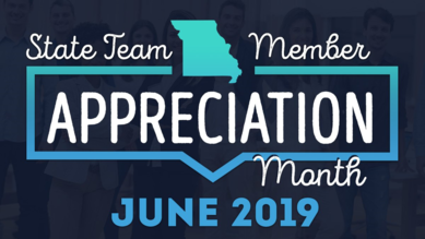 State Team Appreciation Month graphic