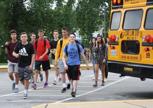 Eureka High School, First Day of School