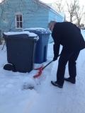 cart shoveling
