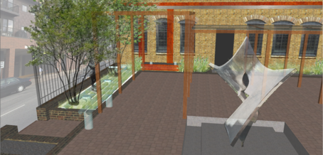 Black Forest Patio Installation Rendering