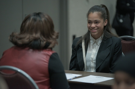 Donnia from Edison High School at Mock Interviews