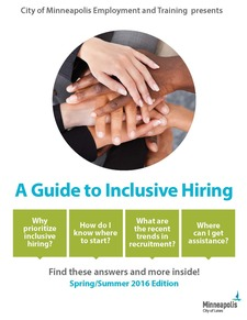New Guide to Inclusive Hiring Front Page Screen shot