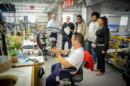 East Side Neighborhood Services touring a bike plant