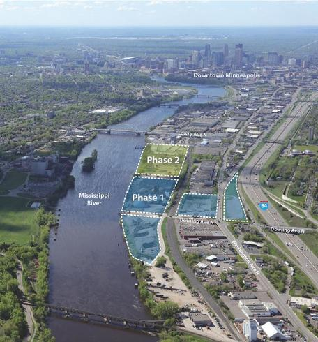 Image of the Upper Harbor Development with Phase Layout