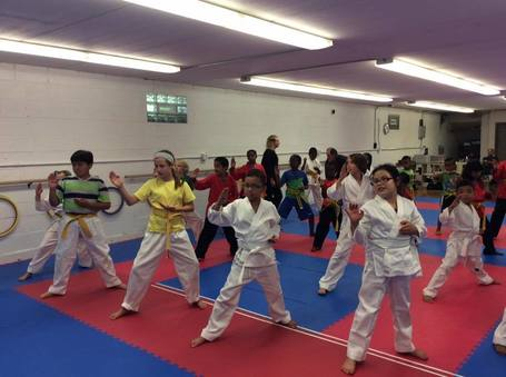 Photo of children participating in a Minnesota Karate class