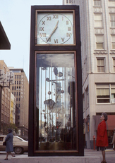 Photo of clock in Nicollet Mall