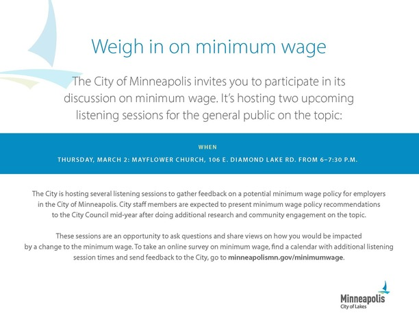 Min Wage Session