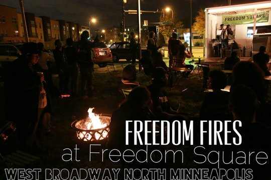 Freedom Fires at Freedom Square In North Minneapolis