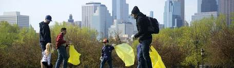 Image of people participating in earth day clean ups