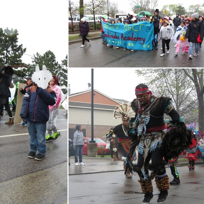 Images from the American Indian Month kick off march
