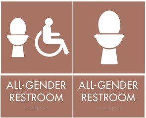 Image of all gender restroom sign