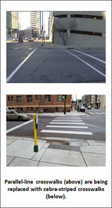 Image of changes to crosswalks