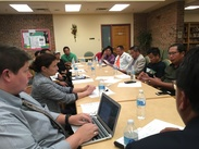 image of community members and City staff during August meeting