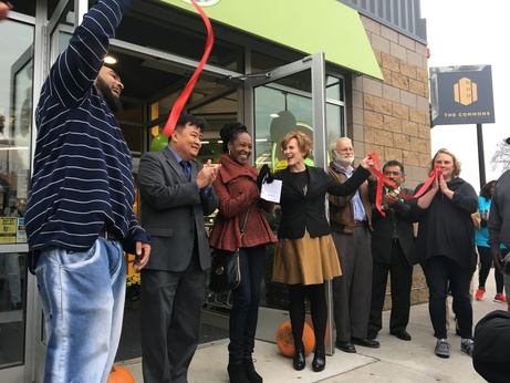 Wirth Co-op ribbon cutting