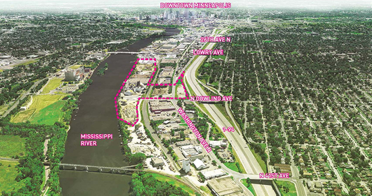 Map of upper harbor terminal development project