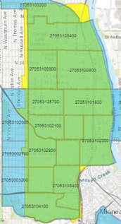 Map of promise zone with overlay of small business administration hub zones