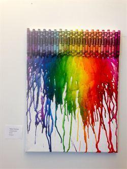 Crayon Art Piece