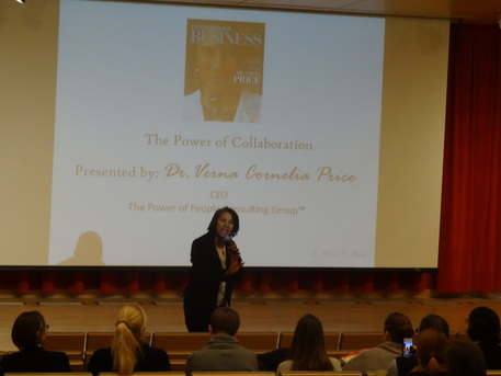 Photo of Dr. Verna Price presenting