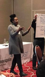 Desralynn Cole Presenting on Understanding Trauma at the 2018 Community Connections Conference