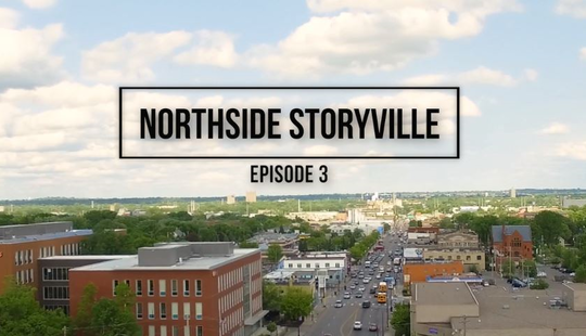 image of north Minneapolis landscape and text storyville episode 3