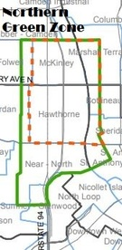 map of northern green zone