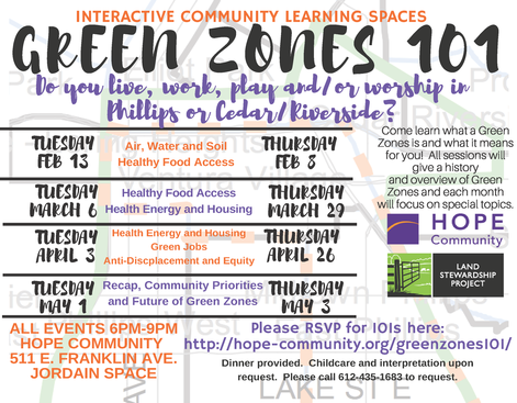 Green Zones 101 Hope Community Flyer 2018