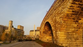 photo of the stone arch bridge