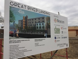 photo of the ground break of Great River Landing