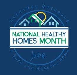 photo of the icon for June as healthy homes month