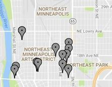 photo of places around Northeast Mpls that contain art galleries