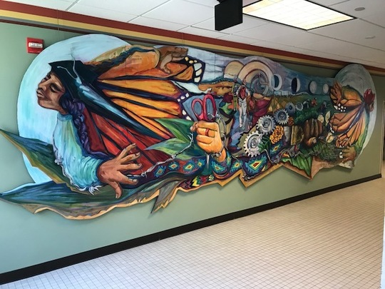 photo of the Path of the Heart Mural located in City Hall