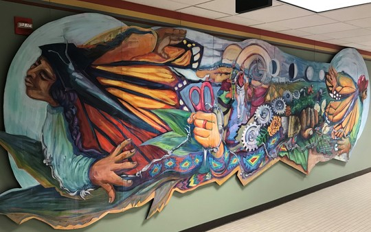 Immigrant Experience Mural at City Hall