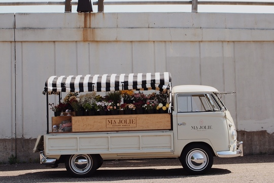 photo of the Flower Mobile
