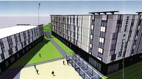 photo rendering of the Hook & Ladder Apartments