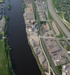 Photo of Upper Harbor Terminal redevelopment site