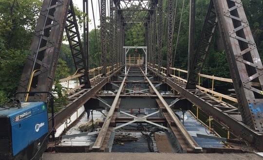 Boom Island Nicollet Island bridge