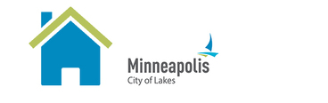 photo of a clipart home with the Minneapolis logo
