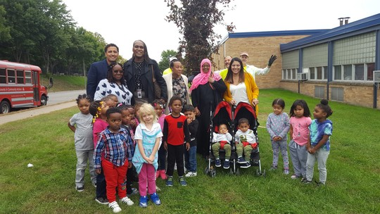 CVP Jenkins with the students of PICA Head Start