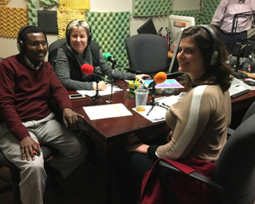 Abdirashid Ahmed, NCR's East African Specialist, hosting his monthly Somali-language radio show