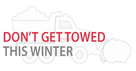 Don't get towed this winter snowplow illustration