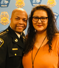 Christine McDonald and Chief Arradondo at MPD Merit Award Ceremony 2018