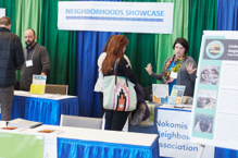 Neighborhoods Showcase booths at 2018 Community Connections Conference