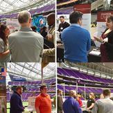 People gathering in the U.S. Bank Stadium Photo collage