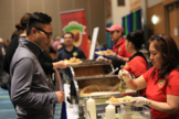 La Mexicana food vendor serving tamales at the 2018 Community Connections Conference